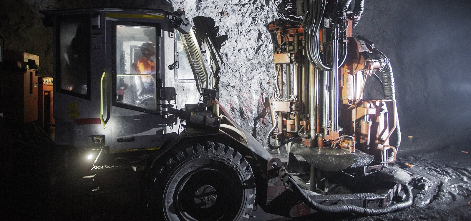The electro-hydraulic Sandvik DL421 longhole drill rig is an ideal match for the large-scale production under way at the SK mine.