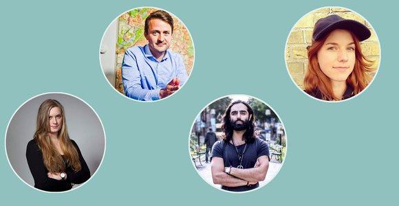 Sara Kinberg, Ted Valentin, Navid Modiri och Ellen Ekman utgör Shortcuts åsiktspanel.
