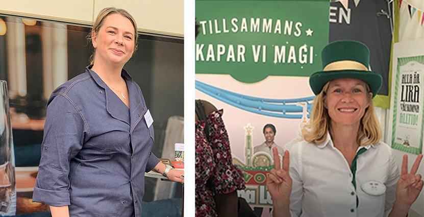 Både Ulrica Bjurström på Compass Group och Gröna Lunds Ida Troive (th) är mycket nöjda med sin medverkan under Järvaveckan. Foto: Besöksliv