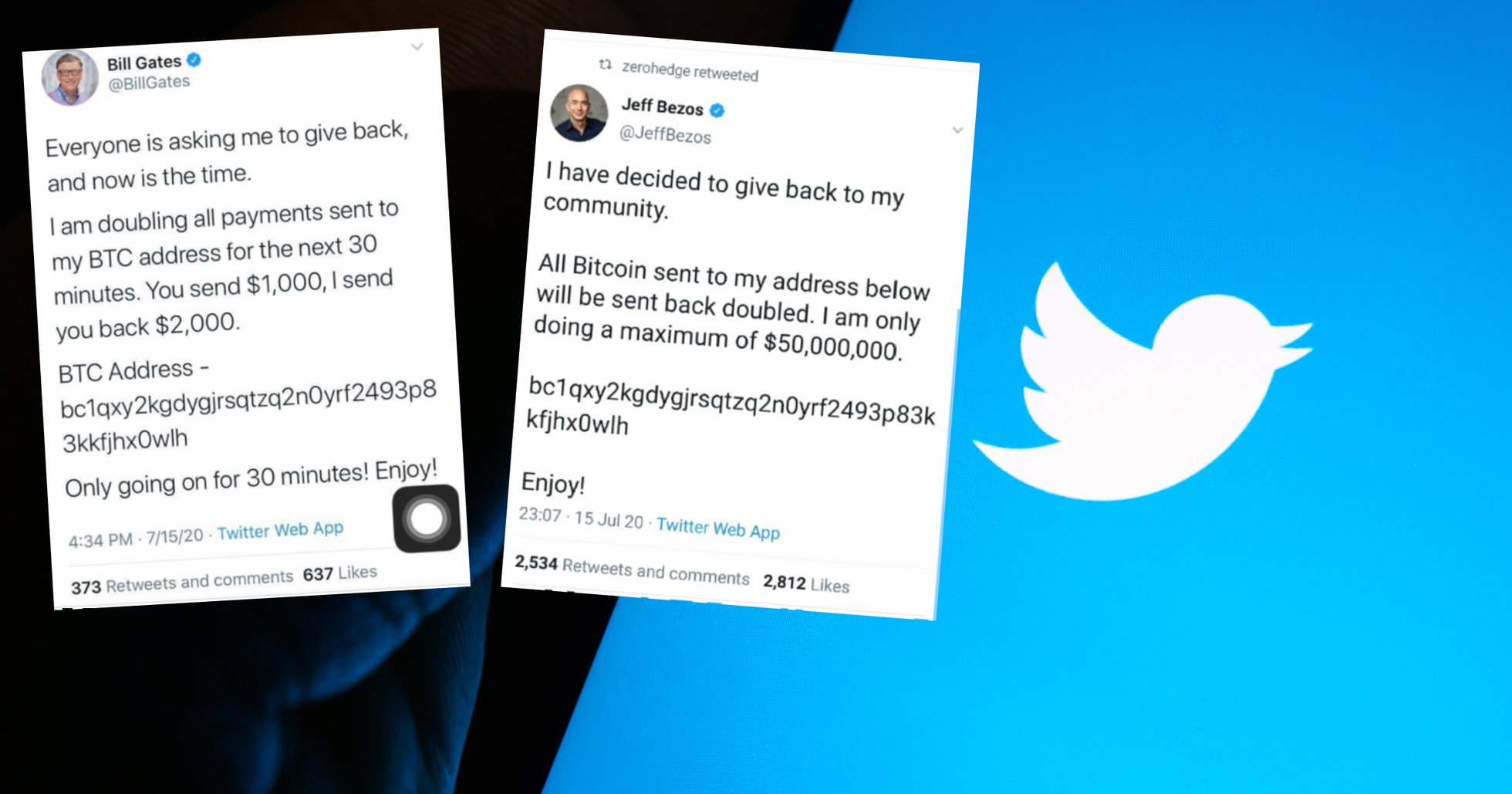 Stora twitterkonton hackade – uppmanade följare att skicka bitcoin.