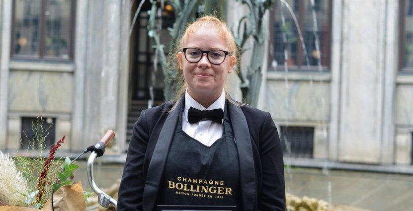 Supersommelier. Hanna Eriksson segrade i Lily Bollinger Award. Foto: Pressbild