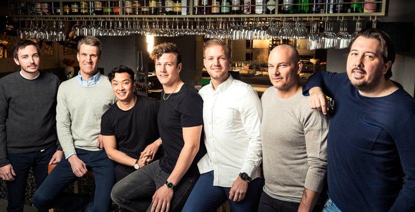 Fr v: Jonas Lagerström, Andreas Edlund, Pi Le, Thomas Sjögren, Sebastian Gibrand, Jonas Dahlbom och Christofer Bengtsson. (Saknas på bilden: Edin Dzemat).