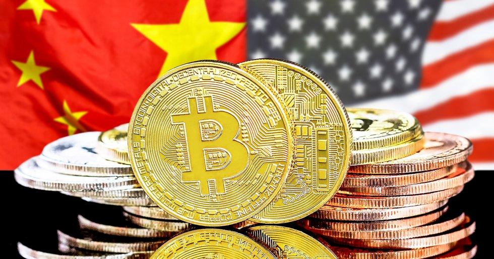 Globala börsfall efter spänningar mellan Kina och USA – bitcoinpriset håller emot.