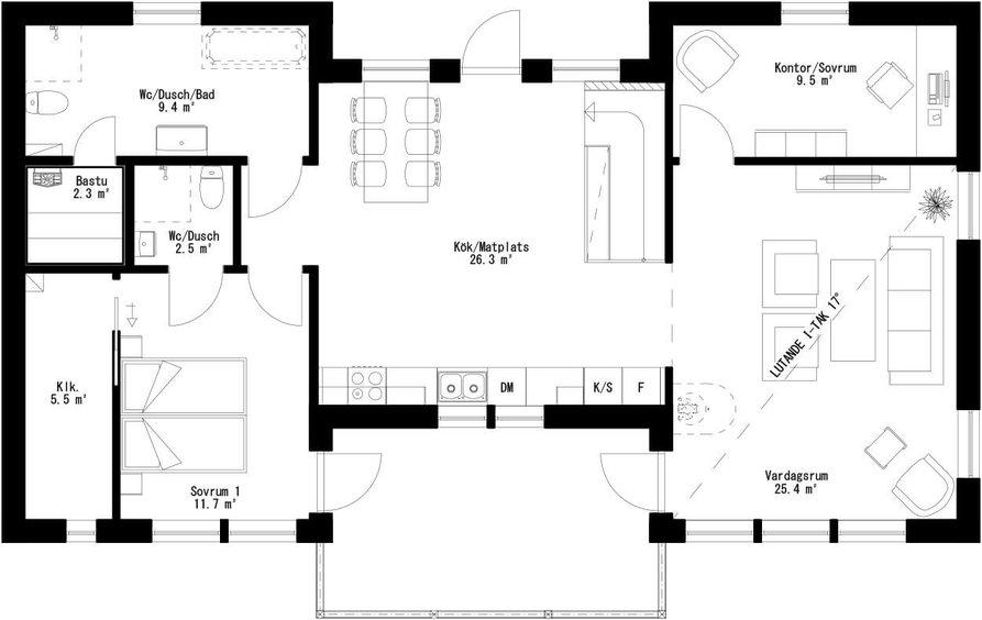 Planritning för Villa Lövholmen