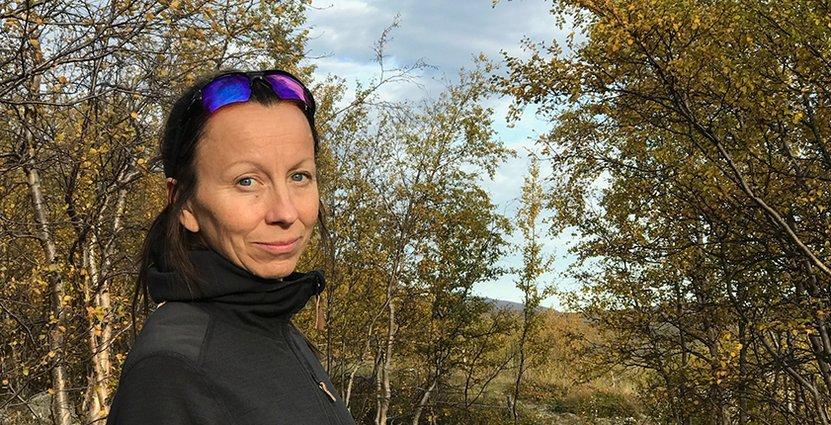 Marit Sarri, platschef på Kebnekaise fjällstation. Foto: Yrla Sarri
