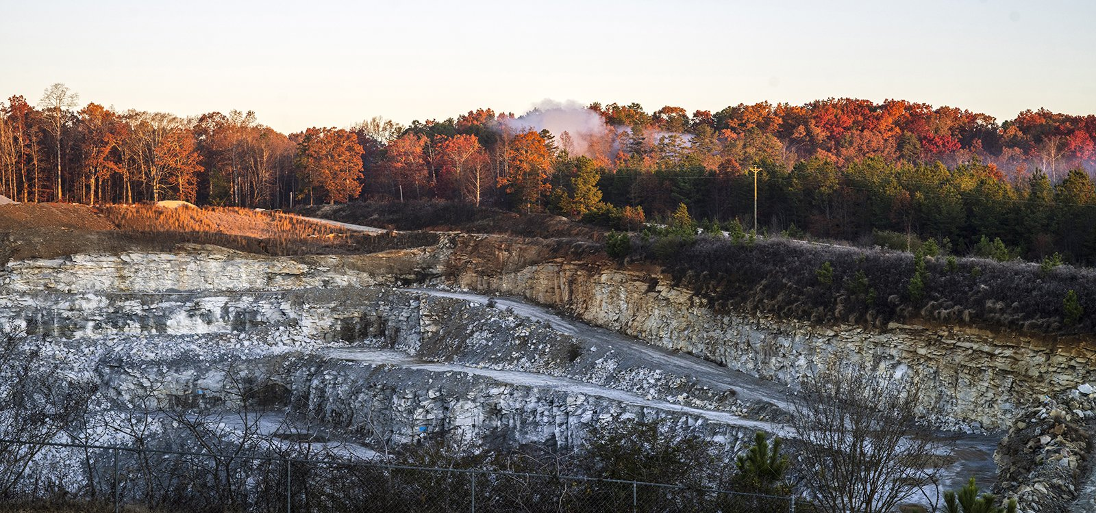 The quarry produces blue granite, South Carolina's state rock.