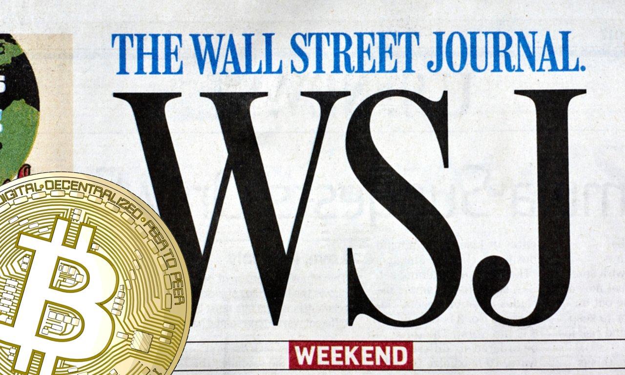 Wall Street Journal sätter bitcoin på sin framsida