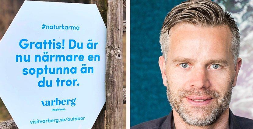 De nya skyltara ska få besökare att värna om allemansrätten, menar Martin Andersson, Varbergs näringslivsdirektör. Foto: Varbergs kommun/Hidvi Group