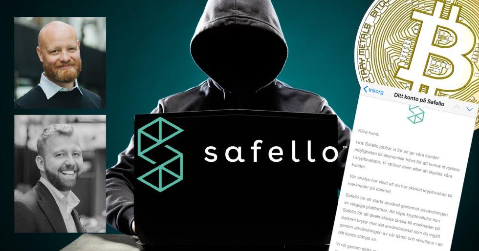 Safello stänger av kunder som skickar bitcoin till darknet.