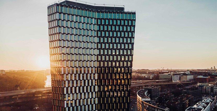 Sjöstaden Skybar öppnar högst upp i skyskrapan Sthlm 01. Foto: Skanska Fastigheter
