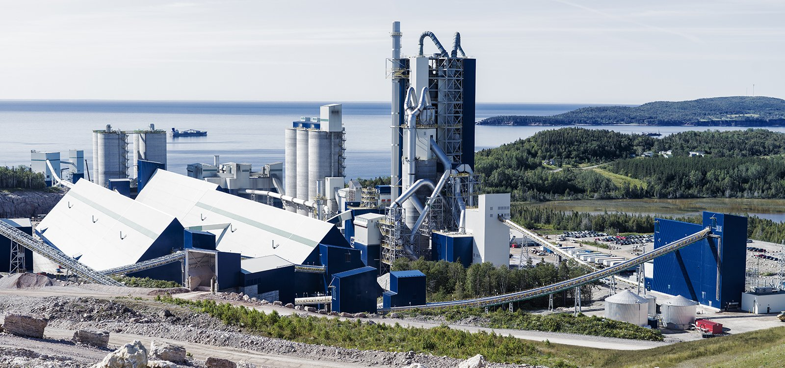 The McInnis Cement plant in Port-Daniel–Gascons, Quebec – the largest in the province – started production in 2017 and can produce as many as 2.3 million tonnes of cement annually.