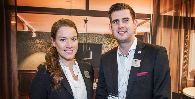 Matilda Skoglund och Dan Bergstén, Meeting manager respektive Sales executive hos Ligula Hospitality Group.