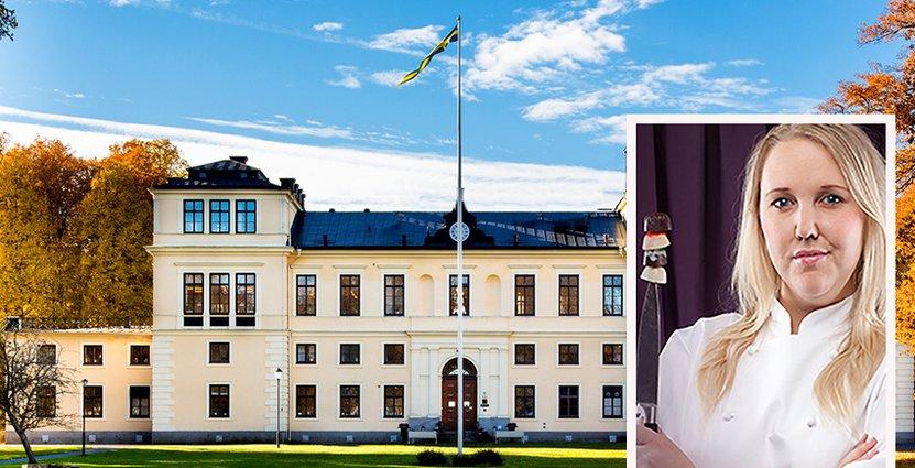 Första månaden på jobbet som restaurangchef har varit intensiv för<br /> Jenny Roshage-Theander. Foto: Rånäs Slott