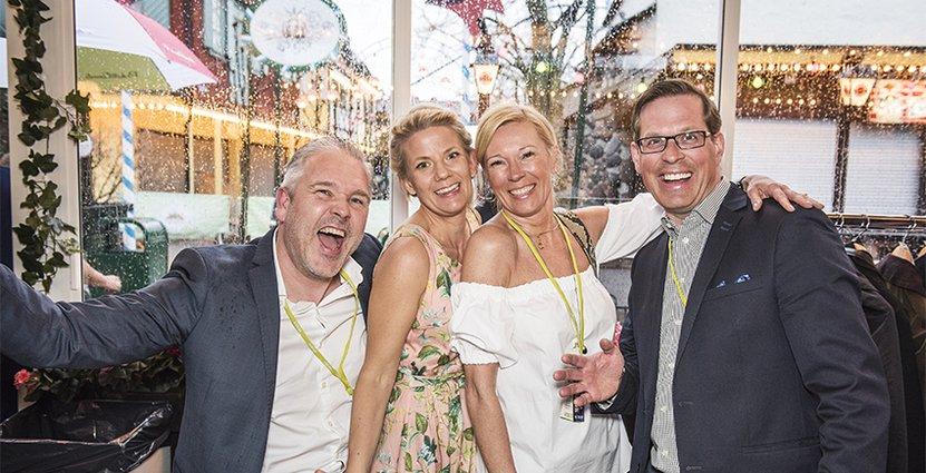 Kvartett från Visita Mellerstas styrelse: Mattias Olsson, Menette von Schulman, Tiina Mykkänen och Ola Lindgren Nilsson.