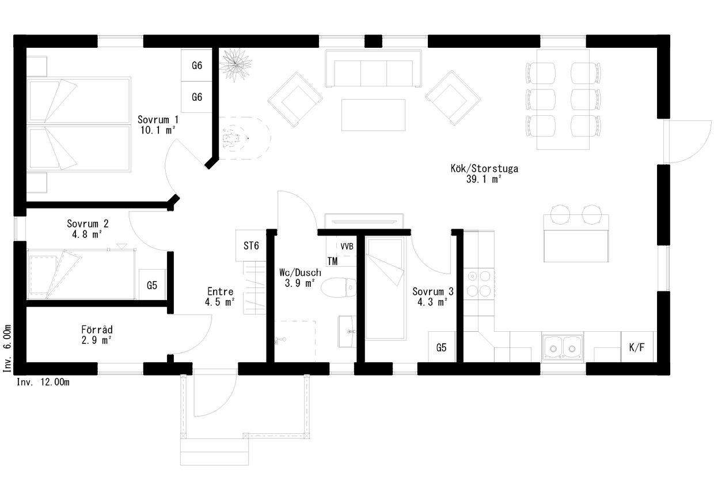 Planritning för Solumnshamn