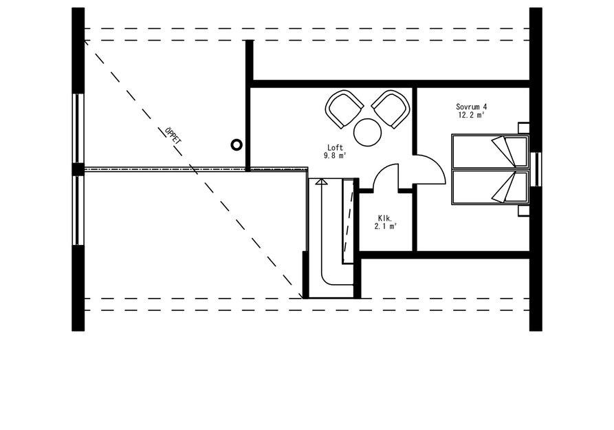 Planritning för Fjällstuga Skuleberget