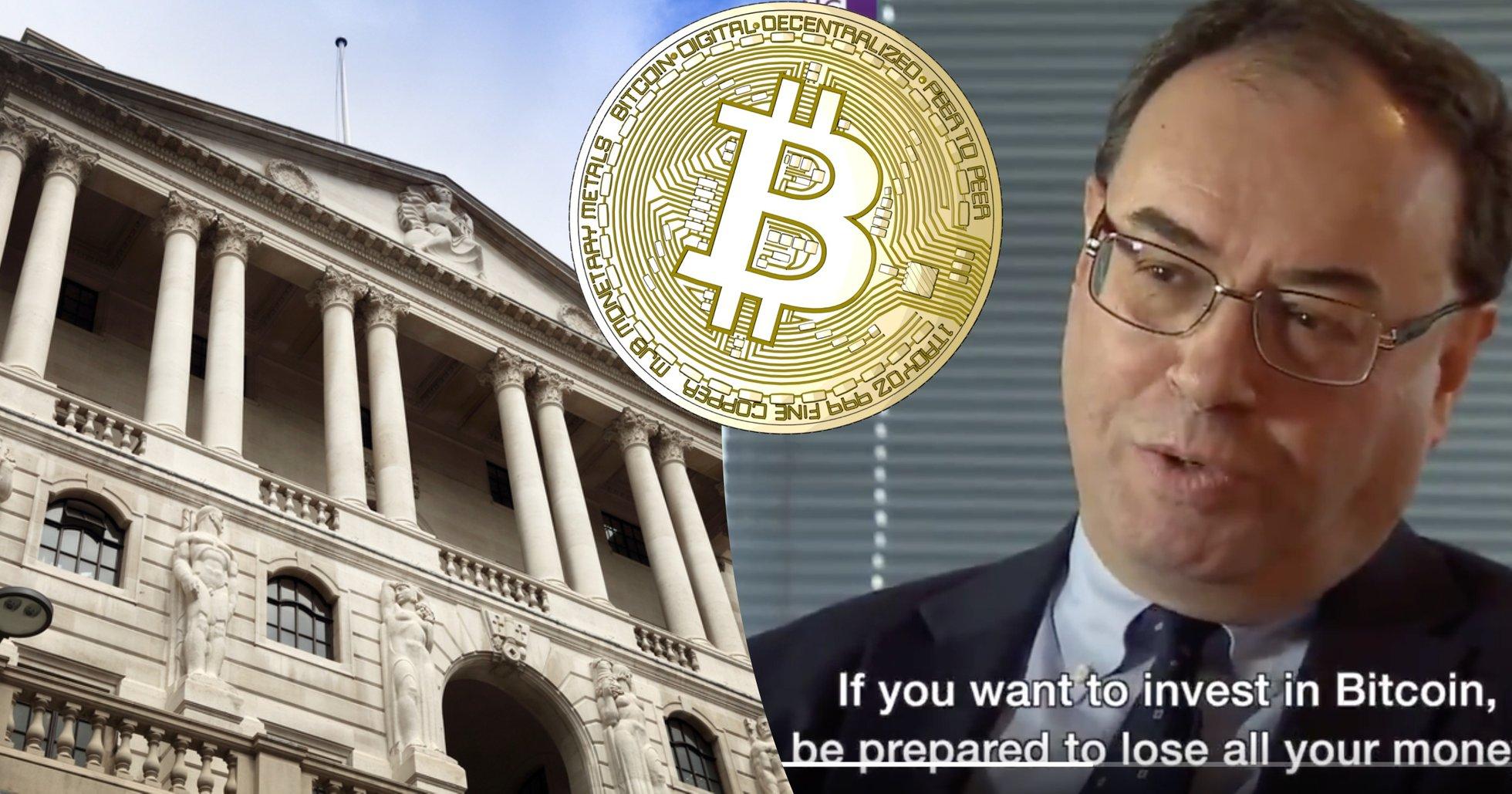 Storbritanniens nästa centralbankschef: Vill du köpa bitcoin? Var beredd på att förlora allt