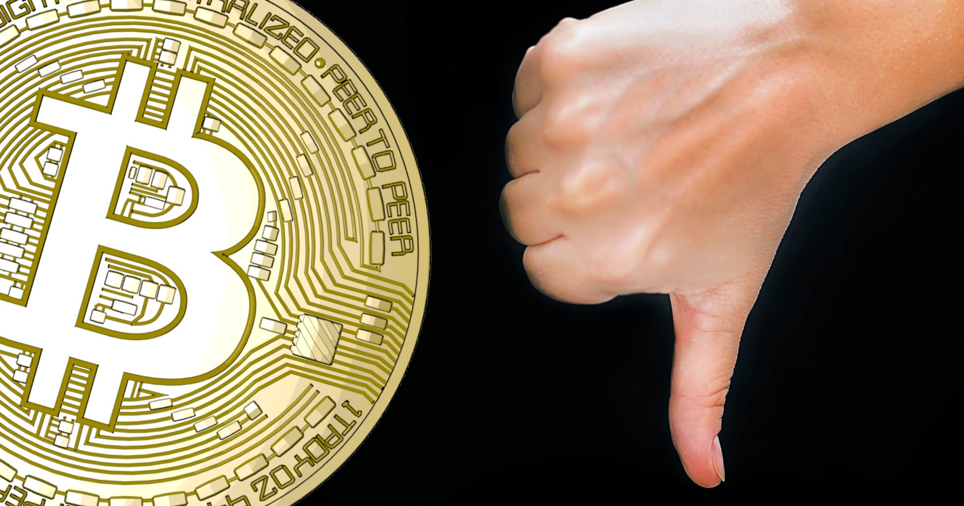 Bitcoinpriset faller under 9 000 dollar för första gången på två veckor.