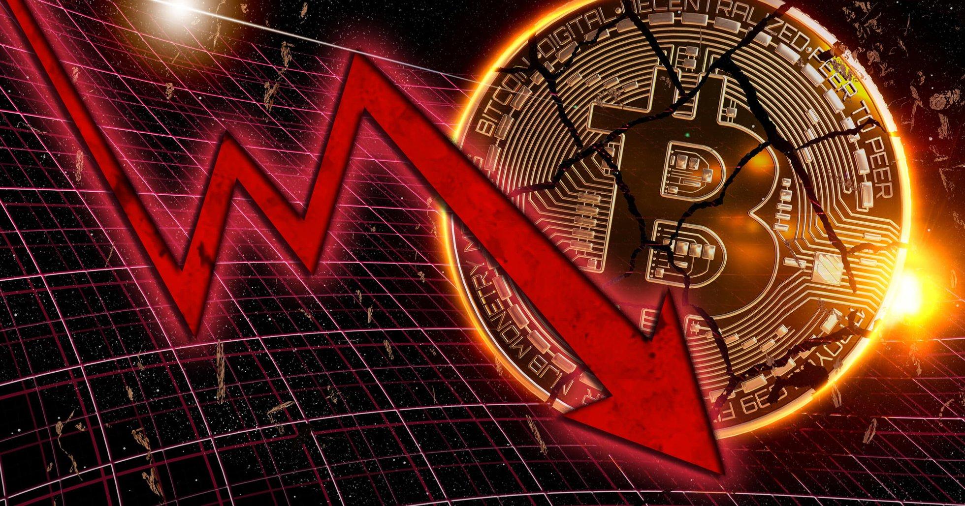 Kryptodygnet: Marknaderna går ner och kurserna visar röda siffror.