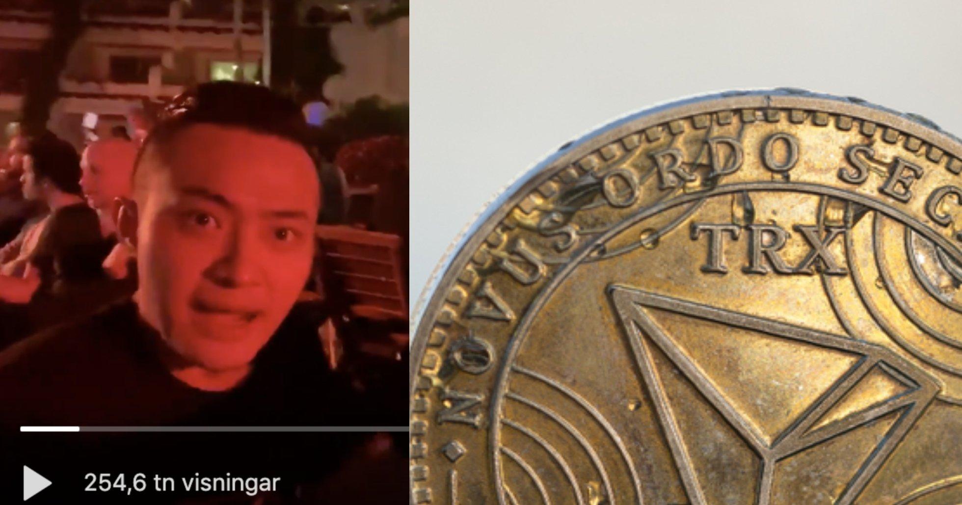 Här kallar vd:n Justin Sun sin egen kryptovaluta för ett shitcoin