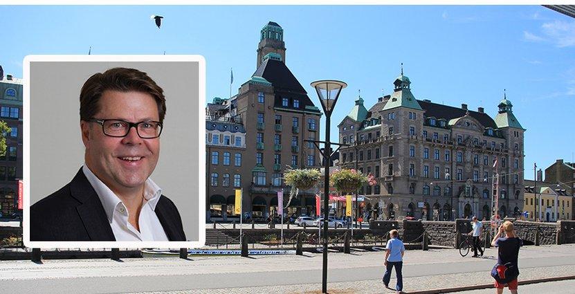 Björn Bergman, vd för Svenska stadskärnor, spår att stadskärnorna kommer se annorlunda ut efter pandemin.  Foto: Colorbox/Pressbild