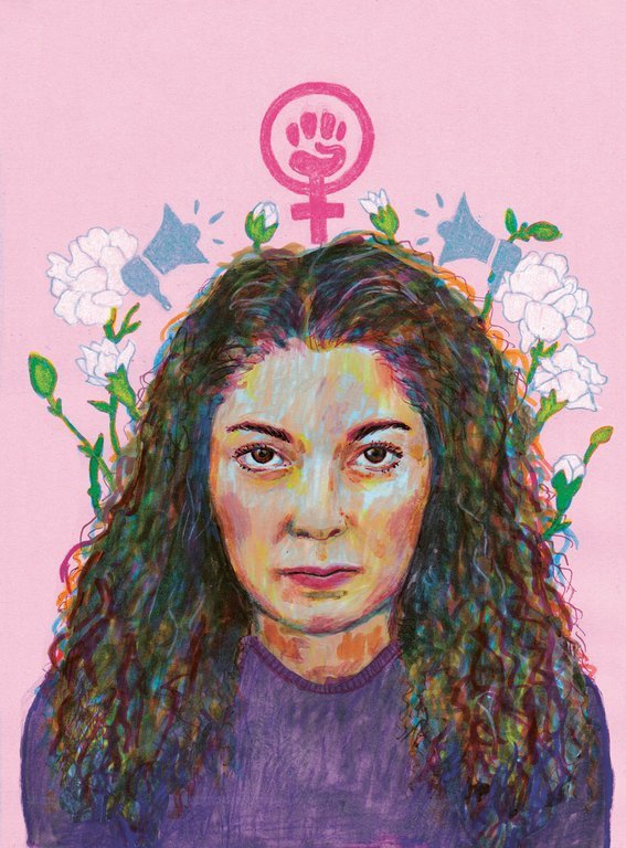 Fadime Sahindal. Illustration av Miriam Ivanoff
