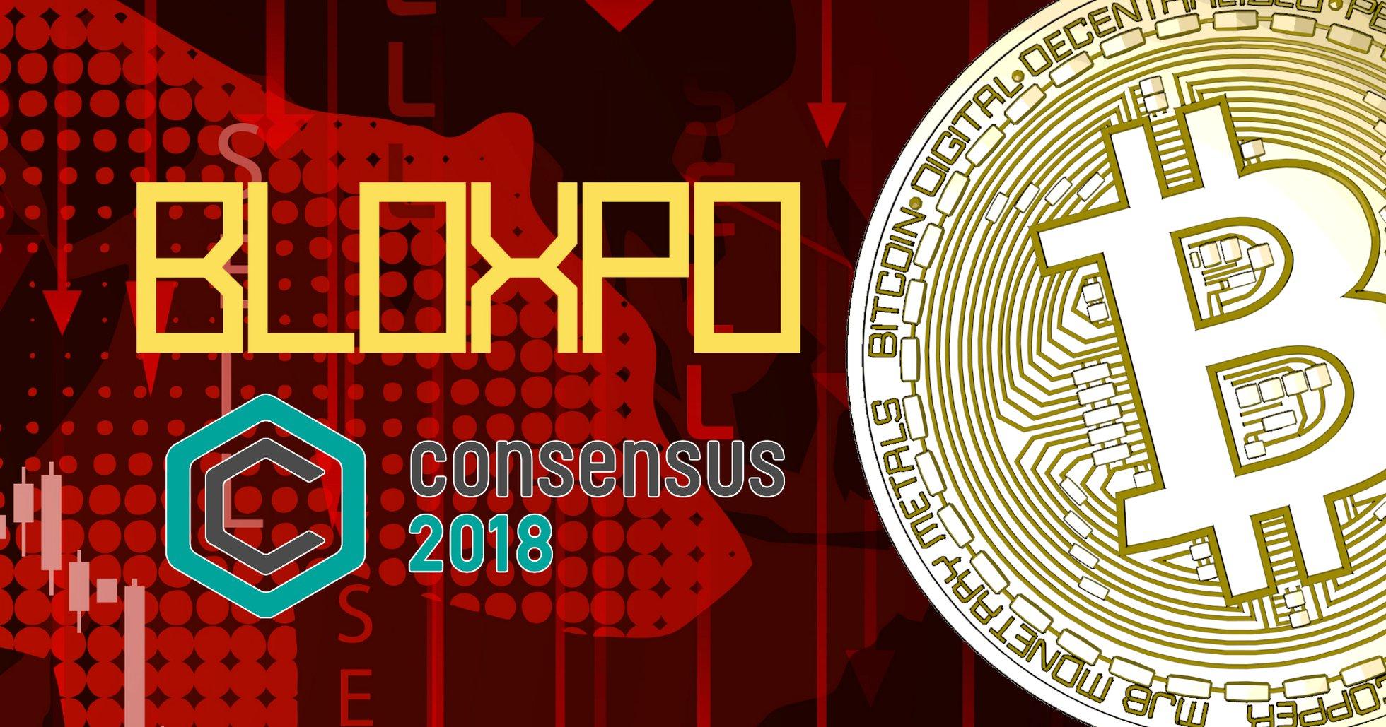 Bitcoin rasar efter Consensus 2018.