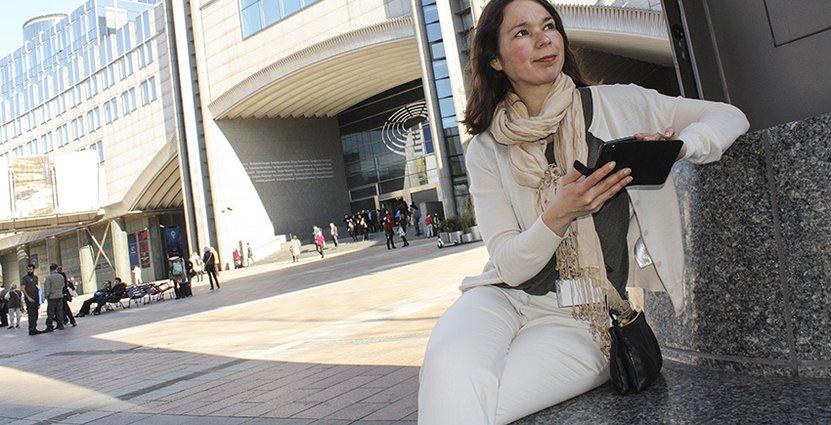 Carola Ekblad, branschjurist på Visita, har varit på plats i Bryssel för att påverka EU-politikerna. Foto: Charlotta Asplund Catot