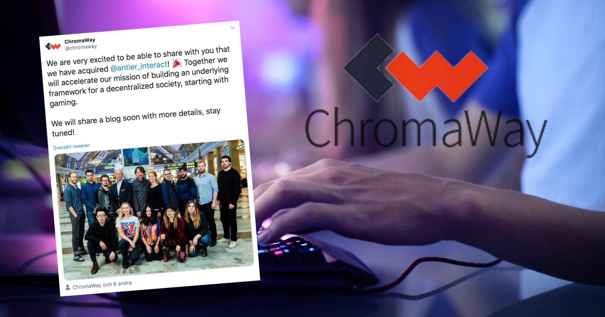 Kryptoföretaget Chromaway köper upp svensk spelutvecklare.