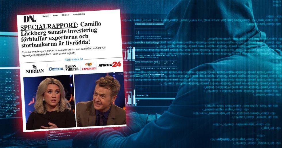 Camilla Läckberg drabbad av Bitcoin Code-bluffen
