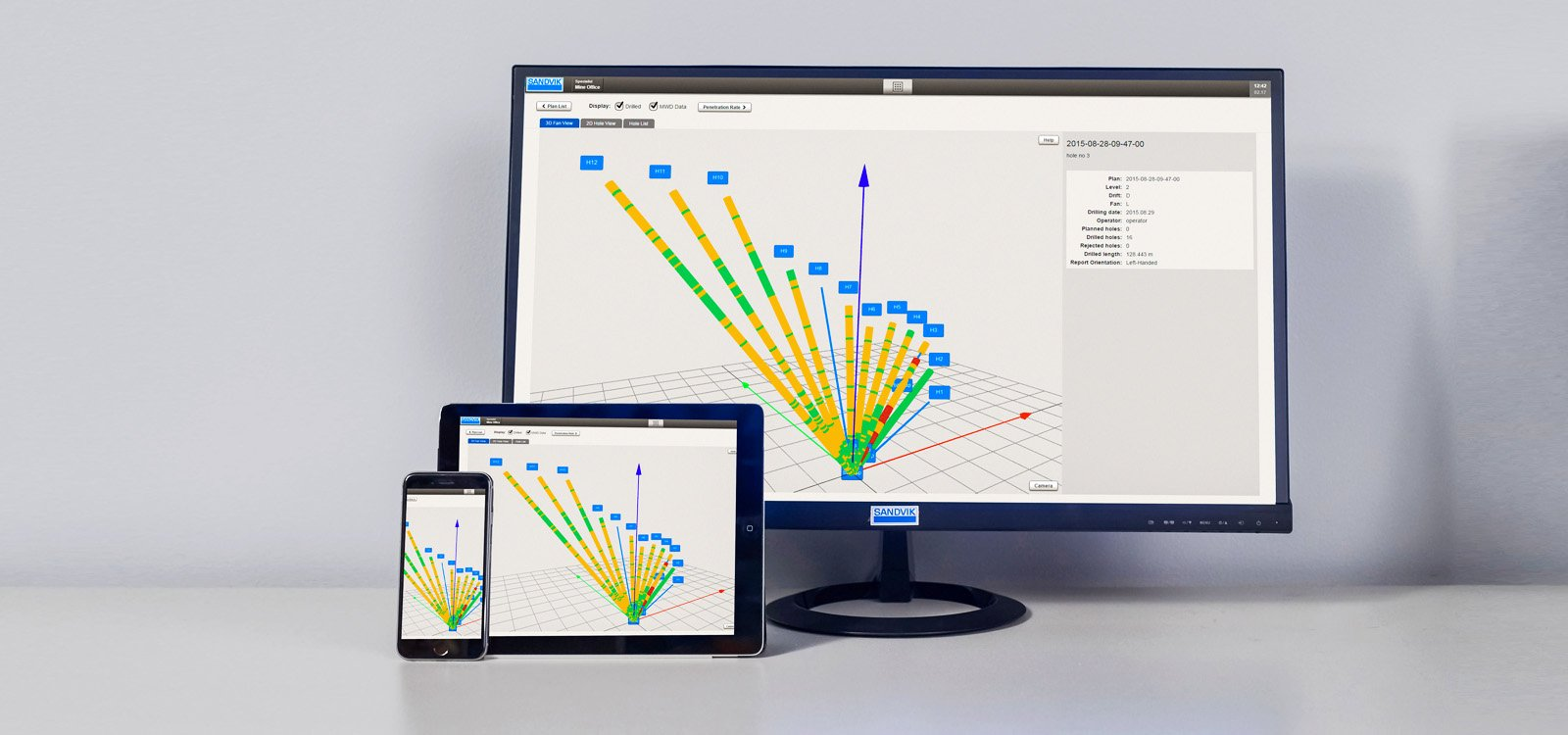 <p>The newest Sandvik OptiMine offerings provide three dimensional models of the mine in real time, which help to streamline planning.</p>