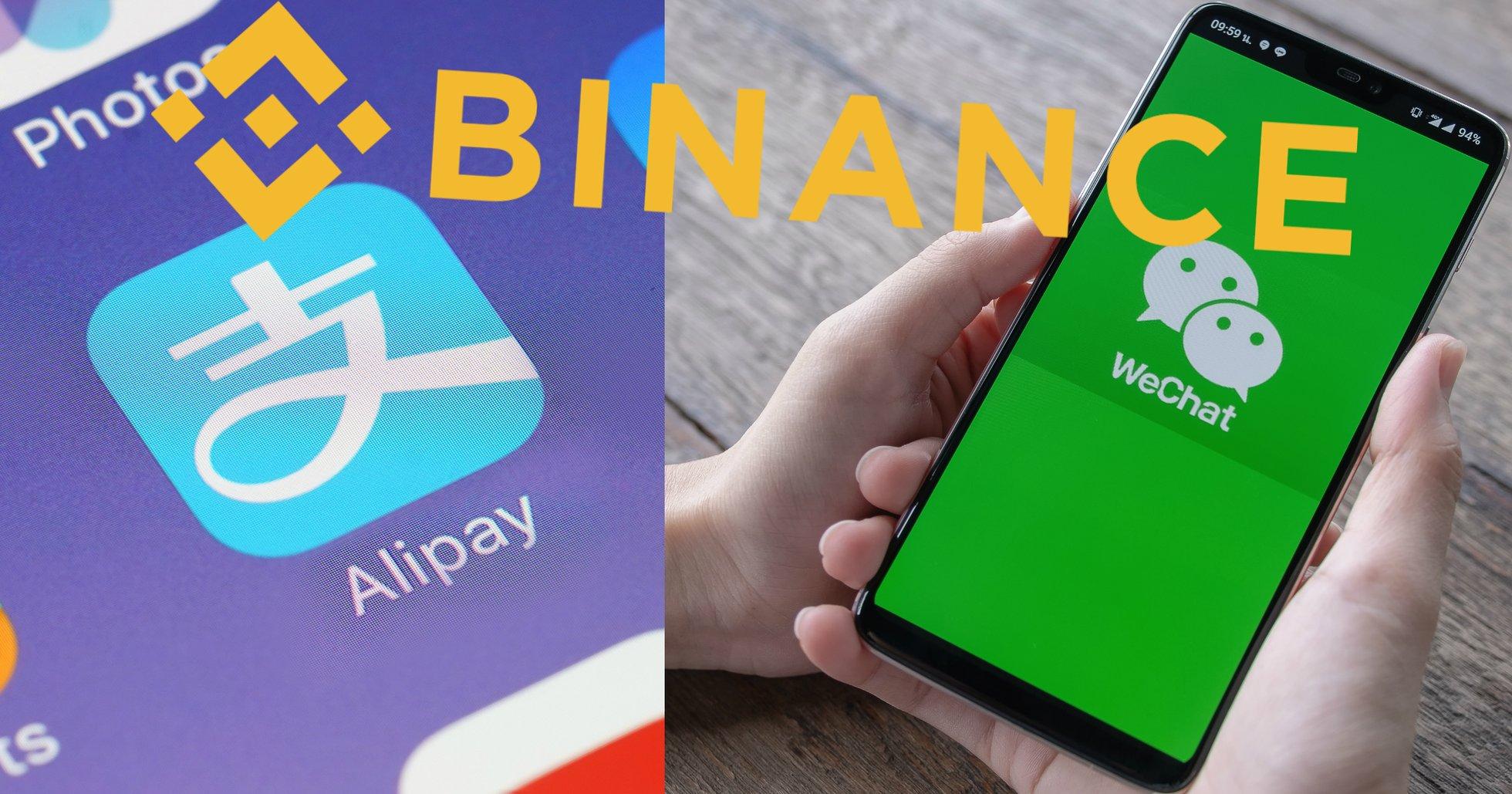 Binance börjar ta emot fiatpegnar via Alipay och Wechat.