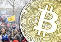 Kaosscener i USA – då gör bitcoin ny rekordnotering på 37 800 dollar
