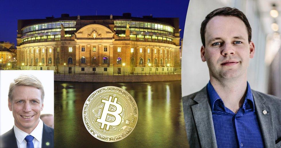 Rickard Nordin (C) ställer minister mot väggen – tycker inte regeringen tar kryptovalutor seriöst