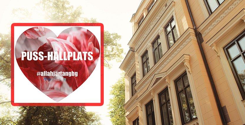 I Göteborg finns pusshållplatser och på Villa Anna i Uppsala<br />  firar man Alla hjärtans dag hela veckan.  Foto: Göteborg & Co, Villa Anna