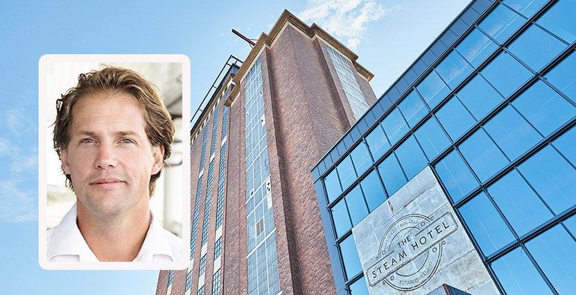 Steam Hotel i Västerås har en beläggning på 90 procent,<br /> enligt Ess Groups vd Jonas Stenberg.  Foto: Steam Hotel
