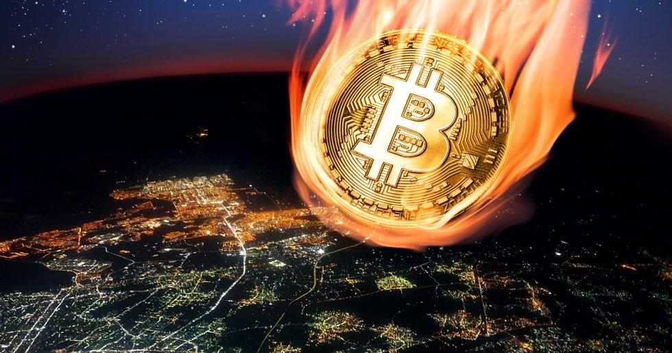 Bitcoinpriset föll med 15 procent på 20 minuter i natt.