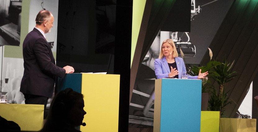 Visitas vd Jonas Siljhammar frågade ut finansminister Magdalena Andersson under Visitadagen.