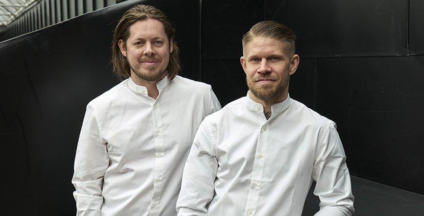 Krögarna Niclas Jönsson och Daniel Höglander står bakom hotellrestaurangen på Villa Dagmar. Foto: Magnus Mårding.