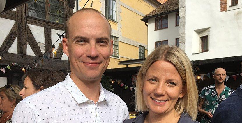 Calle och Menette von Schulman, St Clemens hotell, Visby.