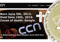 Kryptonyhetssajten CCN lägger ner – stort läsartapp efter uppdatering från Google