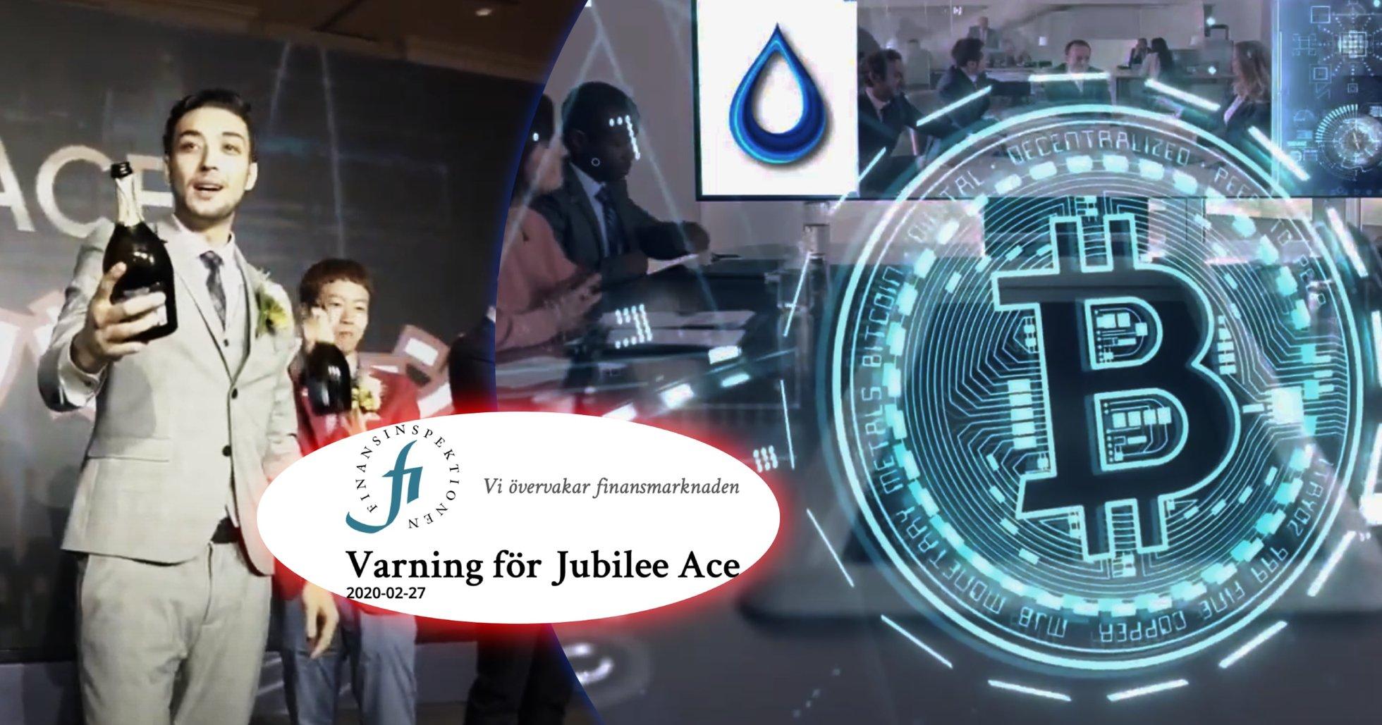 Finansinspektionen varnar allmänheten för MLM-företaget Jubilee Ace