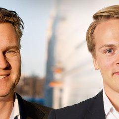 Patrik Hansson, till vänster, har startat upp Arlas Kuala Lumpur-kontor tillsammans med Henrik Björkqvist.