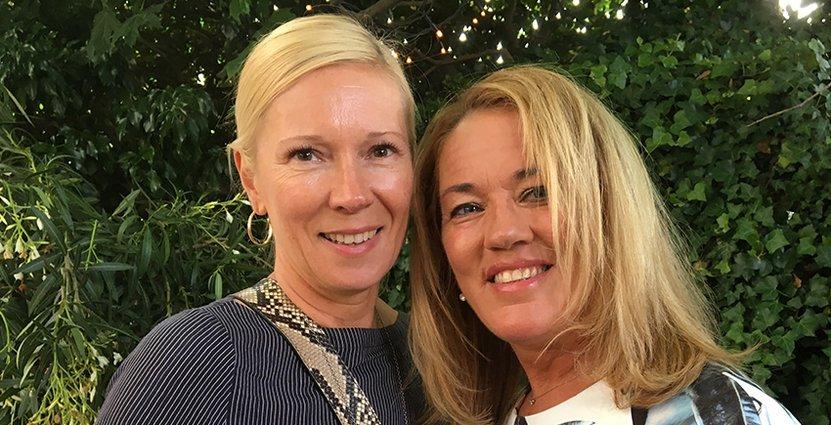 Visitas Mellerstas Tiina Mykkänen och Blås Husets vd Kristina Andersson.
