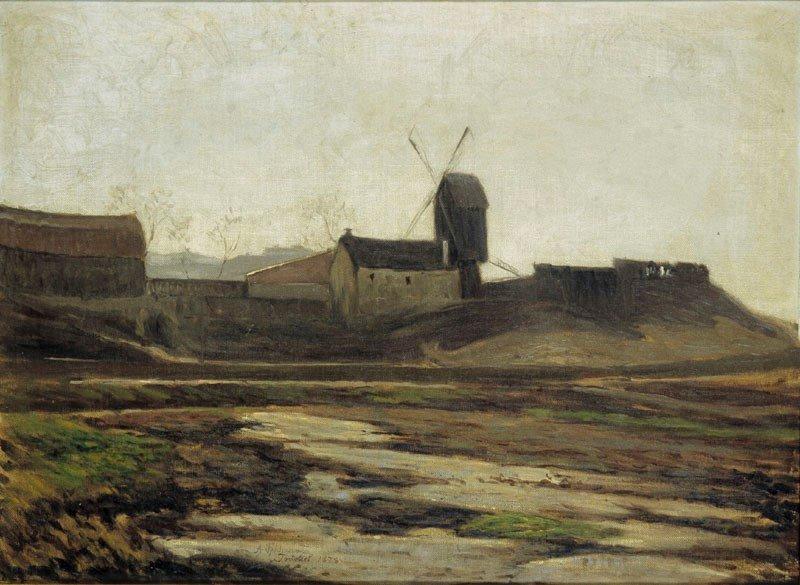Träsket, mot väster. Olja på duk. Konstnär: Axel Fahlcrantz, 1876. Finns på Stockholms stadsmuseum.