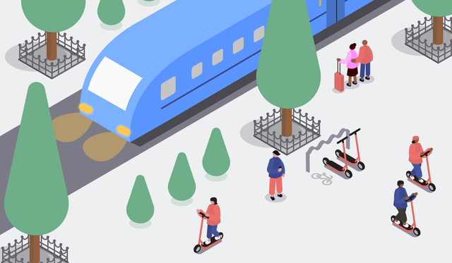 All aboard: Voi supports the Connecting Europe Express with free rides to rail travellers to celebrate the European Year of Rail and sustainable transport