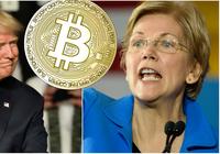 Kryptokritikern Elizabeth Warren utmanar Donald Trump inför USA-valet 2020