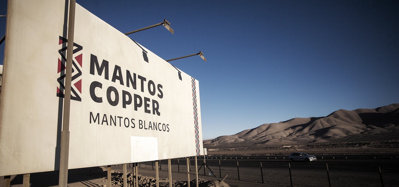 Mantos Blancos sits 800 metres above sea level in the Atacama Desert, one of the most arid places on the planet.