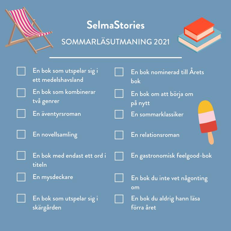 Var med i SelmaStories sommarläsutmaning 2021!