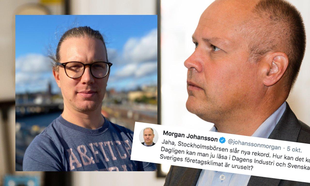 Martin Byström: Morgan Johansson (S) borde gå en kvällskurs i ekonomi.